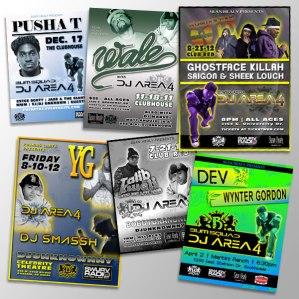 DJ Area4 Flyers